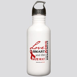 AIDS Awareness Stainless Water Bottle 1.0L