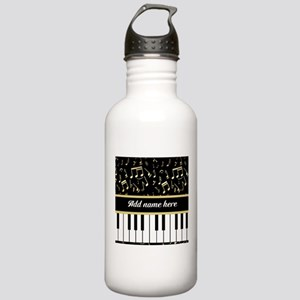 Personalized Piano and musical notes Stainless Wat