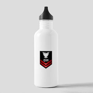 Navy PO2 Postal Clerk Stainless Water Bottle 1.0L