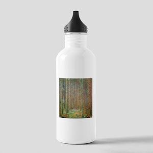 Gustav Klimt Pine Forest Stainless Water Bottle 1.