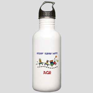 Personalized Birthday Train Stainless Water Bottle