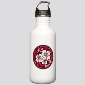 Red Hisbiscus Water Bottle