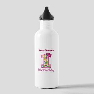 1st Birthday Splat - P Stainless Water Bottle 1.0L
