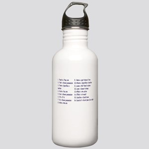 Rules Water Bottle