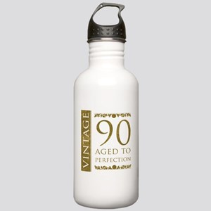 Fancy Vintage 90th Birthday Stainless Water Bottle