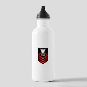 navy_e7_postal Water Bottle
