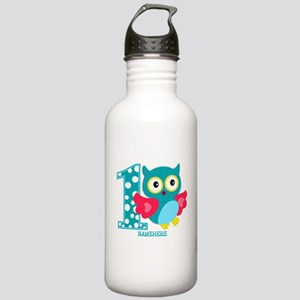 Cute First Birthday Owl Stainless Water Bottle 1.0