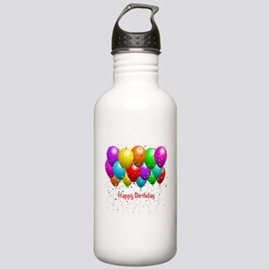 Happy Birthday Balloons Water Bottle
