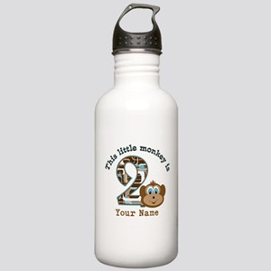 2nd Birthday Monkey Personalized Stainless Water B