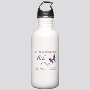 6th Wedding Aniversary (Butterfly) Stainless Water