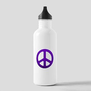 Purple Fade Peace Sign Water Bottle