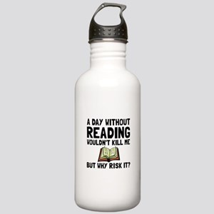 Risk It Reading Water Bottle
