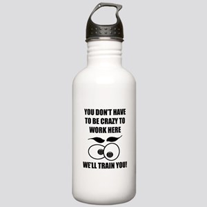 Crazy To Work Here Stainless Water Bottle 1.0L