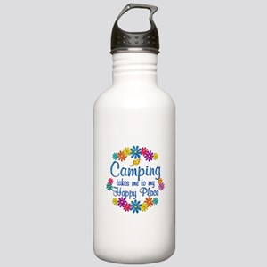 Camping Happy Place Stainless Water Bottle 1.0L