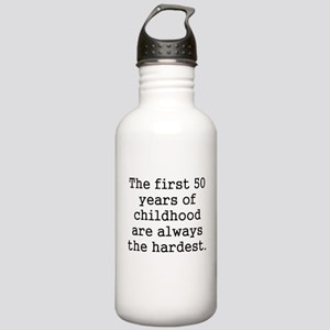 The First 50 Years Of Childhood Water Bottle