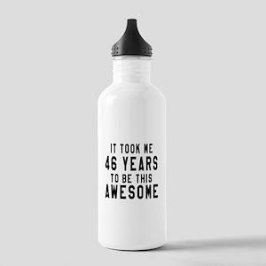 46 Years Birthday Desi Stainless Water Bottle 1.0L