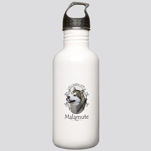 Life's Better Malamute Water Bottle