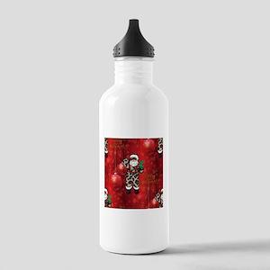 african leopard santa Stainless Water Bottle 1.0L