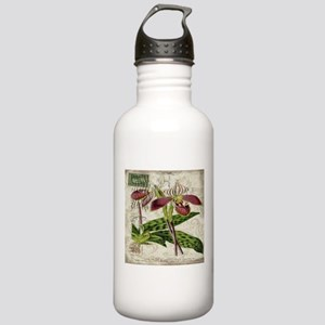 vintage orchid french Stainless Water Bottle 1.0L