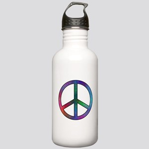Multicolored Peace Sig Stainless Water Bottle 1.0L