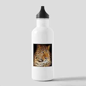 Leopard Portrait Water Bottle