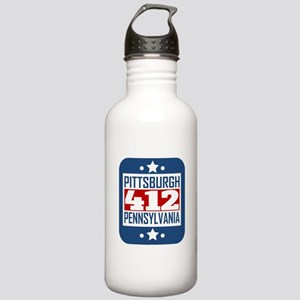412 Pittsburgh PA Area Code Water Bottle