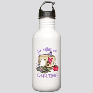 I'd Rather Be Quilting Stainless Water Bottle 1.0L