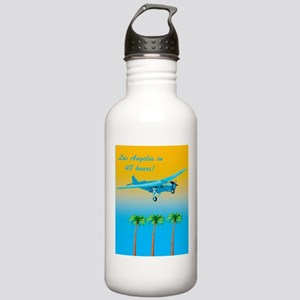 Air Travel Vintage Style Water Bottle