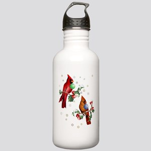 Two Christmas Birds Stainless Water Bottle 1.0L