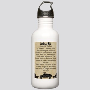 What is a Veteran Stainless Water Bottle 1.0L