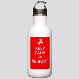 Keep Calm and Re-Boot Water Bottle