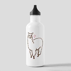 Cute Alpaca Stainless Water Bottle 1.0L