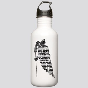 Language of Hockey (skater) Stainless Water Bottle