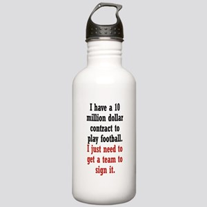 Football Contract Stainless Water Bottle 1.0L