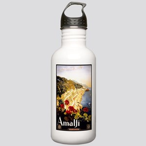 Antique Italy Amalfi Coast Travel Poster Water Bot