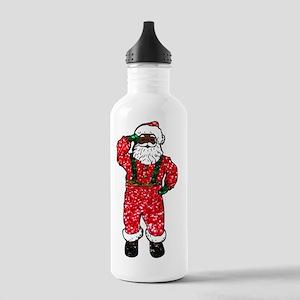glitter black santa cl Stainless Water Bottle 1.0L