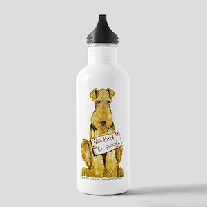 Airedale Welsh Lakeland Terri Stainless Water Bott