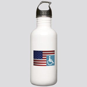 Disabled American Vet Stainless Water Bottle 1.0L
