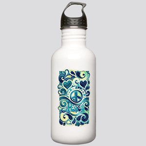 Colorful Hippie Art Stainless Water Bottle 1.0L