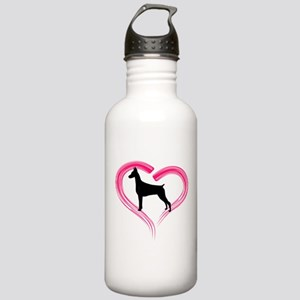 Heart My Doberman Stainless Water Bottle 1.0L