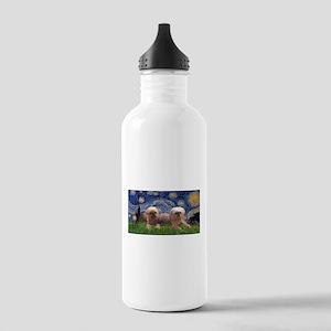 Starry / 2 Affenpinschers Stainless Water Bottle 1