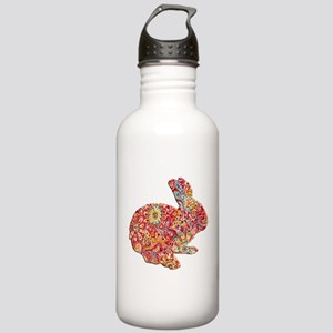 Colorful Floral Easter Bunny Water Bottle