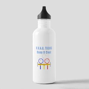 HVAC Techs Keep it Cool Water Bottle