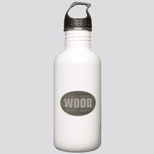 Wood Stainless Water Bottle 1.0L