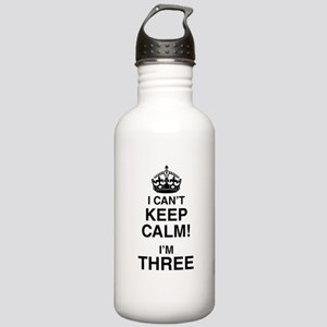 I Can't Keep Calm I'm Three Sports Water Bottle