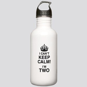 I Can't Keep Calm I'm Two Sports Water Bottle