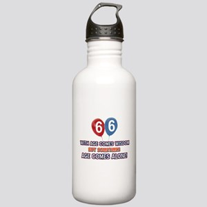 Funny 66 wisdom saying Stainless Water Bottle 1.0L