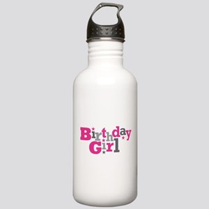 Pink Birthday Girl Star Stainless Water Bottle 1.0