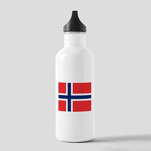 Norway flag Water Bottle