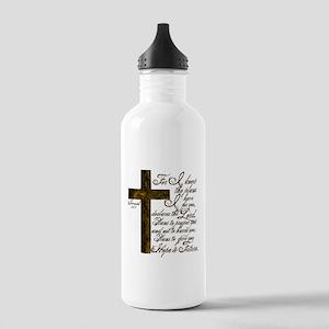 Plan of God Jeremiah 29:11 Stainless Water Bottle